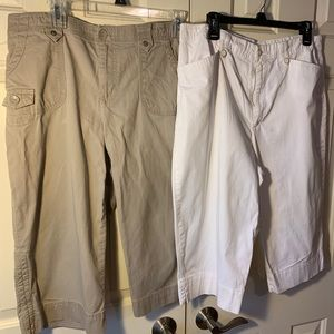 Two pairs of excellent used condition Capri pants